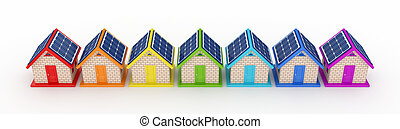 Solar energy concept.Isolated on white background.3d...