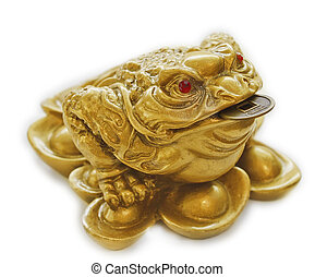 Chinese Feng Shui lucky money toad for riches