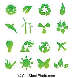 green environmental vector icons