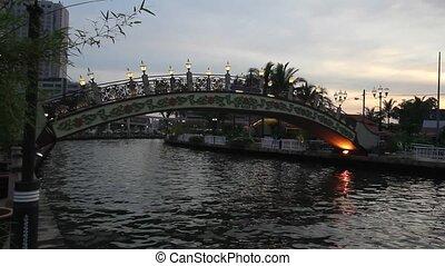 Sunset along Melaka River Malaysia - Sunset along Melaka...