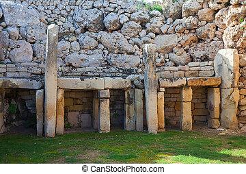 Ggantija, Neolítico, templos, (3600, B, C, )