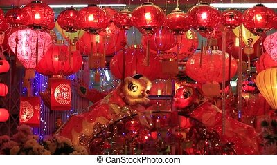 Hanging Chinese Lanterns in Melaka - Blinking Hanging...