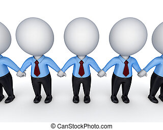 Teamwork conceptIsolated on white background 3d rendered