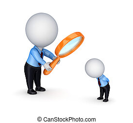 Search concept Isolated on white background3d rendered