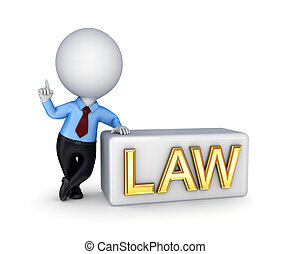 LAW concept.Isolated on white background. 3d rendered.