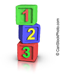 Play Blocks - Numbers - 3D numbers play block made with...