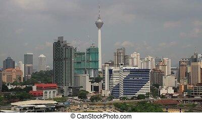 Kuala Lumpur City in Malaysia 1080p - View of Kuala Lumpur...