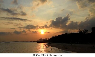 Sunset East Coast Beach Singapore - Sunset at East Coast...
