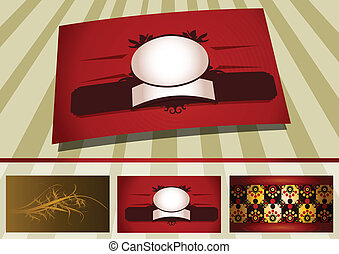 Business cards template background