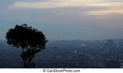 Sunset from Look Out Point Malaysia - View of Kuala Lumpur...