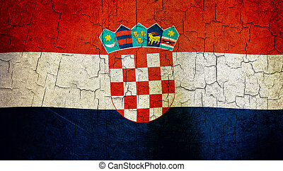 Grunge croatia flag