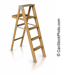 Step ladder - 3D Step ladder.