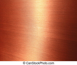 Fine brushed copper texture with shiny gloss