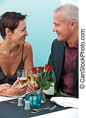 Married couple in a restaurant - Photo of a mature married...