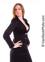 Sexy secretary - An isolated sexy secretary on white...