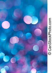 Abstract blue background - Festive Lights Bokeh. Abstract...