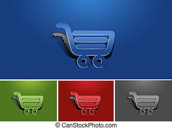 web shopping icon design