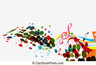 abstract vector music wave line eps10 illustration