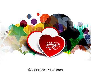 valentine's day background - valentine's day, heart vector...