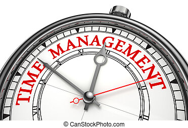 time management concept clock closeup isolated on white...