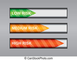 Degrees of risk - business abstract illustration with...