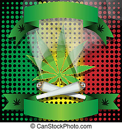Marijuana-Cannabis-Joint - Illustration of marijuana as a...