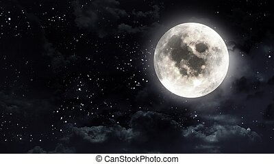 moon in the night sky - the beauty moon in the night sky