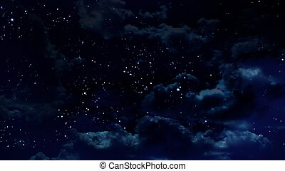 the beauty night sky with star background