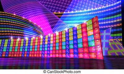 The disco stage set d