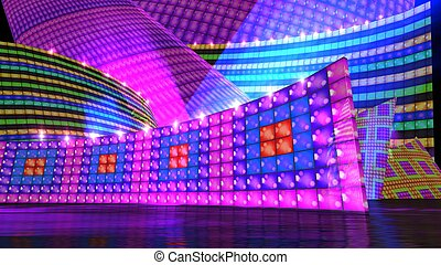 The disco stage set h