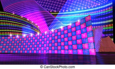The disco stage set checker d