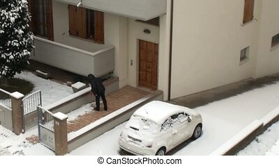 snow - hardship caused by bad weather