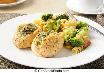 Stuffed chicken - Chicken breasts stuffed with spinach...