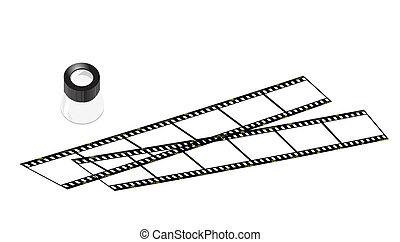slide loupe and slide films
