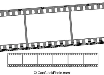 film strip, total 6 continous frames. vector with correct...
