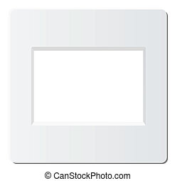 slide photo frame - slide frame for 35mm format, vector is...