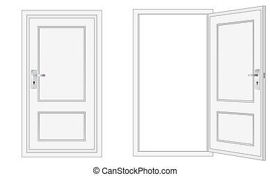 Clip art et illustrations de porte 135 125 graphiques for Porte ouverte dessin