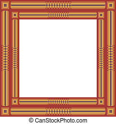 Quilted Patchwork Frame - Square frame in traditional...