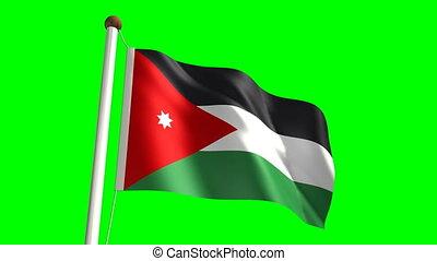 Jordan flag (Loop & green screen)