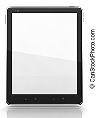 High-Detailed Digital Tablet PC on White Background, 3D...