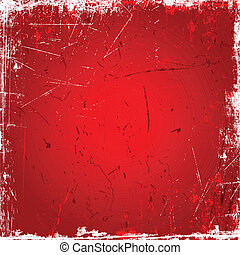 Red grunge background - Grunge background with scratches and...