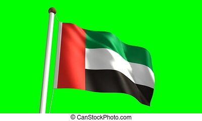 United Arab Emirates flag (with gre - 3D United Arab...