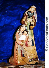 Christmas nativity scene with baby