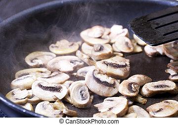 hongos, cocina