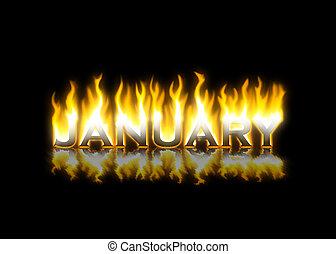January on Fire