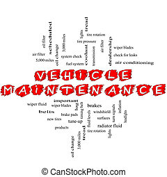 Vehicle Maintenance Word Cloud Concept Scribbled - Vehicle...
