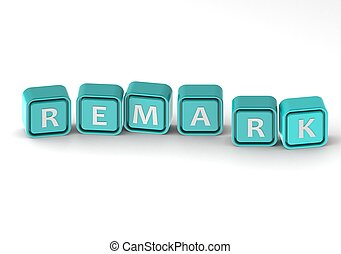 Cubes: remark - rendered artwork with white background