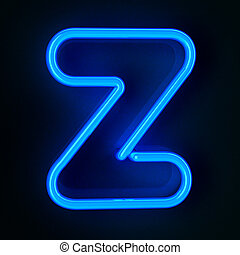 Neon Sign Letter Z - Highly detailed neon sign with the...