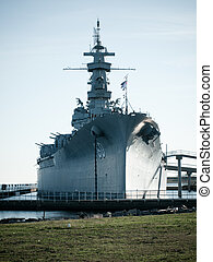 Battleship of US Navy at the museum in Mobile, AL