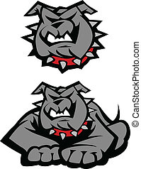 Bulldog Mascot Body Illustration - Graphic Vector Mascot...